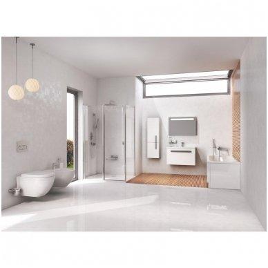 WC Rėmo Sanit ir pakabinamo klozeto Ravak Uni Chrome Rim komplektas 9