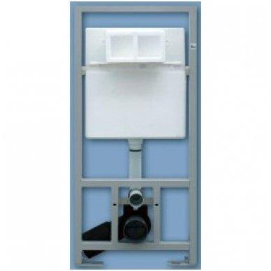 WC Rėmo Sanit ir pakabinamo klozeto Ravak Uni Chrome Rim komplektas 10
