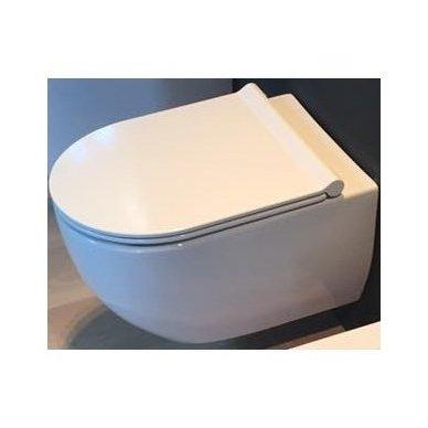 WC Rėmo Sanit ir pakabinamo klozeto Alice Ceramica Unica Rimless komplektas 7
