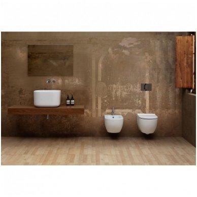 WC Rėmo Sanit ir pakabinamo klozeto Alice Ceramica Unica Rimless komplektas 8