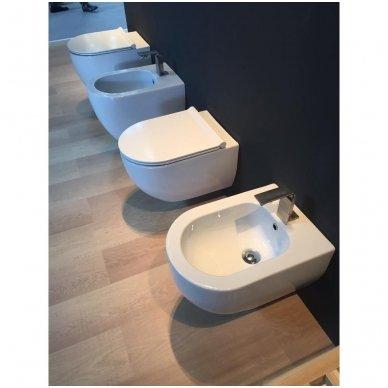 WC Rėmo Sanit ir pakabinamo klozeto Alice Ceramica Unica Rimless komplektas 6