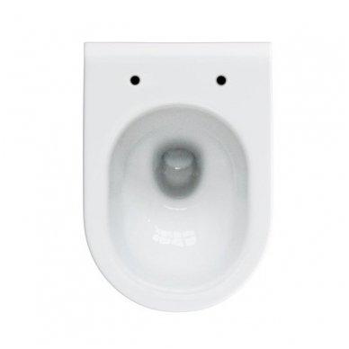 WC rėmo Tece, juodo mygtuko Now ir klozeto Opoczno Urban Harmony Rimless su plonu lėtaeigiu dangčiu komplektas 5