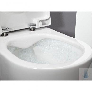 WC rėmo Viega, juodo mygtuko Visign 10 ir klozeto Laufen Pro Rimless su plonu lėtaeigiu dangčiu komplektas 7
