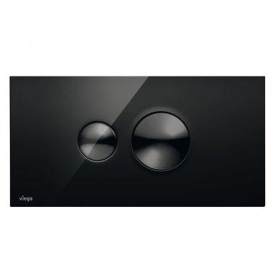 WC rėmo Viega, juodo mygtuko Visign 10 ir klozeto Opoczno Urban Harmony Rimless su plonu lėtaeigiu dangčiu komplektas 4