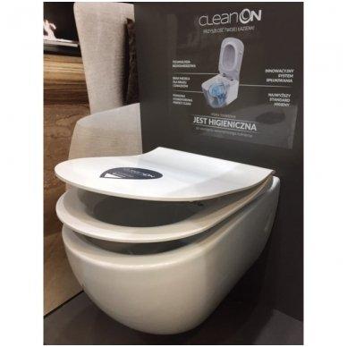 WC rėmo Viega, juodo mygtuko Visign 10 ir klozeto Opoczno Urban Harmony Rimless su plonu lėtaeigiu dangčiu komplektas 9
