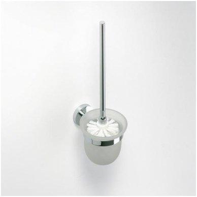 WC šepečio laikiklis stiklinis pakabinamas Bemeta Omega